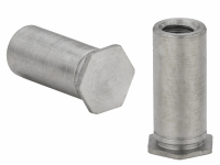 Blind Threaded Standoff, Wide Body Ø5.39mm For Inst Into Stainless Steel