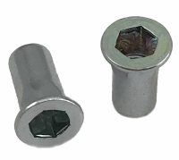 Steel Hex Open Rivnut Lge Hd M6 Grip 0.5-3.0, Hole 9.1mm
