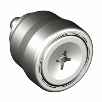 Captive Screw Press In Smooth Styled Knob