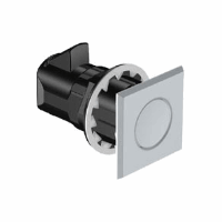 MP Point Latch, Push to Close, Pull to Open, Square, Satin Knob, Flush Profile