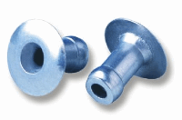 Briv Rivet Ali Domed Head, 4.0mm x 6.94, Grip 3.68-4.96